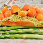 zalm met groene asperges