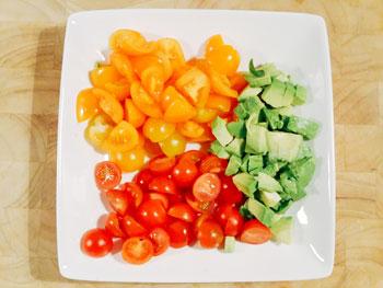 tomaatjes avocado